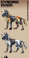 Cyborg Dogs - adoptables by Mootdam