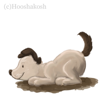 Puppy Painting by Ouivon