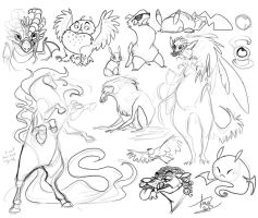 Sketch Dump: Little Roughs by Turtle-Arts