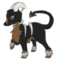 Houndoom - Dirtcake by alinoravanity