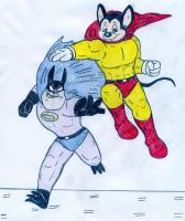 Mighty Mouse and Bat Bat by Jose-Ramiro