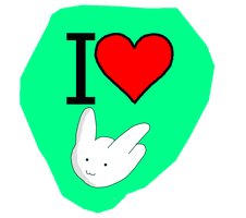 I love stock rabbits sticker by kagefumi0etranger