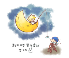 kagamine ren and kaito by kthelimit