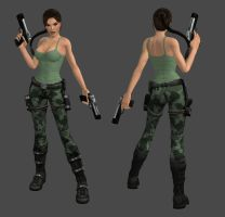 Lara Croft Commando Outfit by spuros12 by spuros12