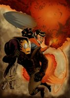 Rocketeer and Betty by sosnw