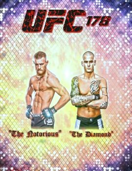 Conor McGregor vs Dustin Poirier ufc 178 by kungfufrogmma