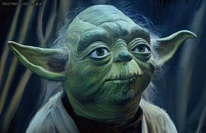 Yoda Oil Painting by FantasminhaCamarada