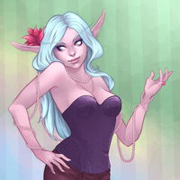 Commission: Warcraft Night Elf by andarix