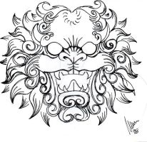 Foo dog head -sketch- by dfmurcia