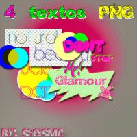 + 4 Textos PNG. by sheisMC