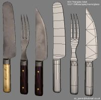 Low Poly Cutlery by ezjamin