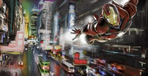 Iron Man flyby by rashomike