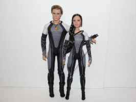 Hunger Games: Catching Fire Dolls by bondagebondi