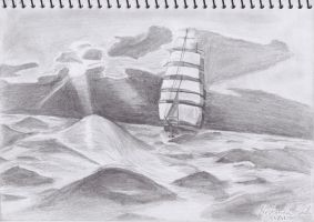 Boat Drawing by 777ultimate