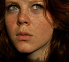 Girl With Freckels 7 by berghet