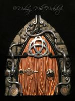Polymer Clay Celtic Steampunk Fairy Door by missfinearts