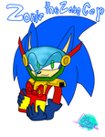 Zonic the Zone Cop by RoseDarksbelle