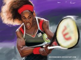 Serena Williams by DevonneAmos