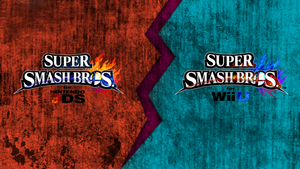 Super Smash Bros. Wii U/3DS Logo Wallpaper #22 by TheWolfBunny