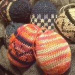 Knitted Easter Eggs by Enira