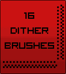 Photoshop Dither brushes by Scorpion81
