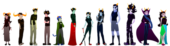 homestuck height chart by Goliath--I