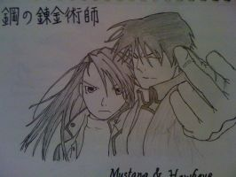 Roy Mustang and Liza Hawkeye by nekoduchess