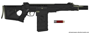 The UA: R3A2 Flechette gun by OUTMACED121