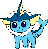 Vaporeon (chibi) by ColorMyMemory