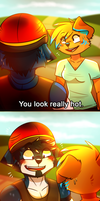 COMIC - You look really hot. by giinga