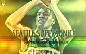 Seattle Supersonics Wallpaper by rhurst
