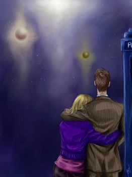 The Doctor and Rose by Fishik
