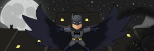 Batman [Scribblenauts] - here come the bats by Tanis-WAR