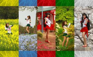 Sailor Jupiter, Sailor Mars cosplay puzzle by foux86