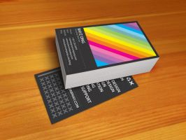 Rainbow Business Card v1 by Lemongraphic