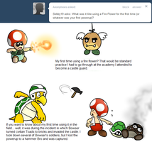 Ask Toad - Fire Flower? by pocket-arsenal