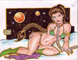 SLAVE PRINCESS LEIA by RODEL MARTIN (10052014) by rodelsm21