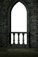 UNRESTRICTED - Gothic Castle Balcony Render by frozenstocks