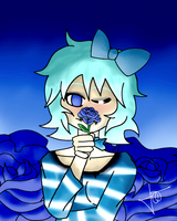 Art Trade - Blue Roses to a Blue Girl by MultiMouths