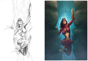 Spiderwoman commision 4 VS by GarryHenderson