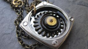 Steampunk Spiral Square by PunkTrunk