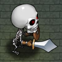 Skeleton by windship