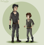 Day 9- Gendry and Arya by TheCarmiBug
