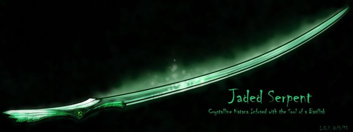 Weapon Design: Jaded Serpent by Sathiest-Emperor