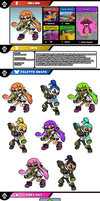 Newcomer Inkling by evilwaluigi