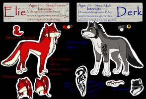 Elie and Derk Refference sheet by ela-moon