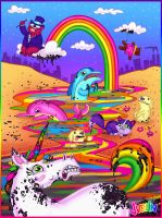Lisa Frank versus BP by chunkysmurf
