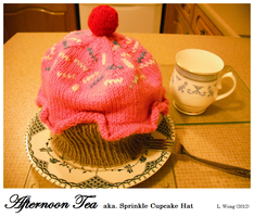 Afternoon Tea/Sprinkle Cupcake Hat by Stitch-Happy