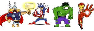 Just Some Avengers by barefeets