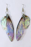 Double Fairy Wing Earrings by KristenJarvisART